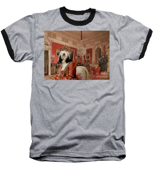 Tibetan Terrier Art Canvas Print Baseball T-Shirt