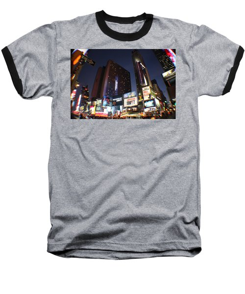 Times Square Nyc Baseball T-Shirt by Rogerio Mariani