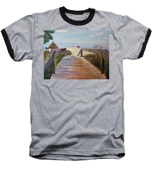 To The Beach Baseball T-Shirt by Marilyn  McNish