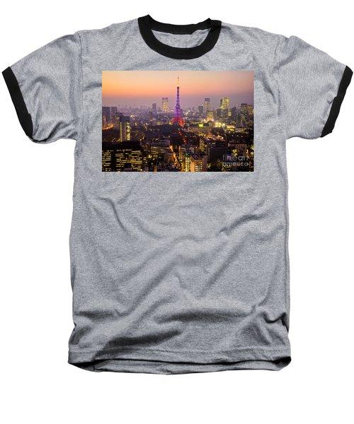 Tokyo Tower - Tokyo - Japan Baseball T-Shirt