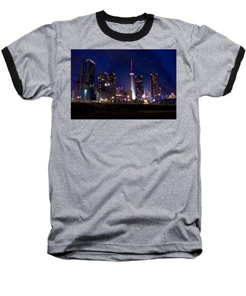 Toronto By Night Baseball T-Shirt