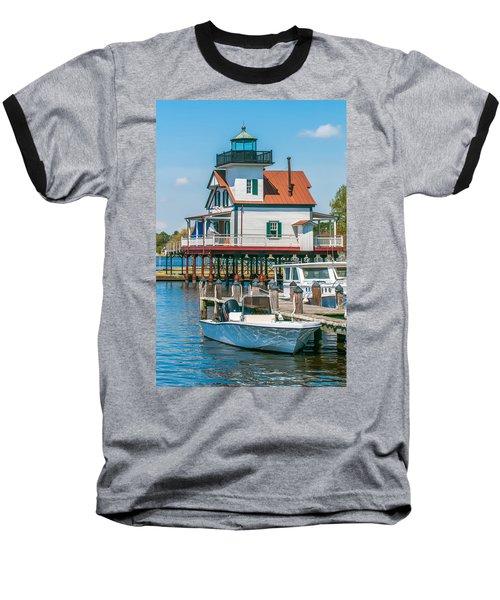 Town Of Edenton Roanoke River Lighthouse In Nc Baseball T-Shirt