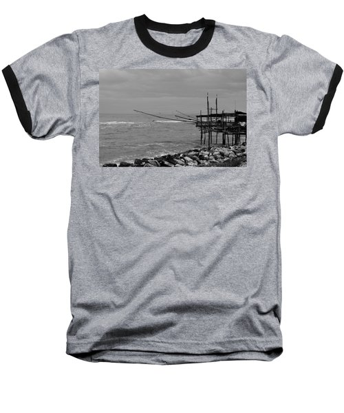 Trabocco On The Coast Of Italy  Baseball T-Shirt