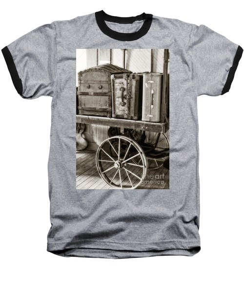 Train Station Luggage Cart Baseball T-Shirt