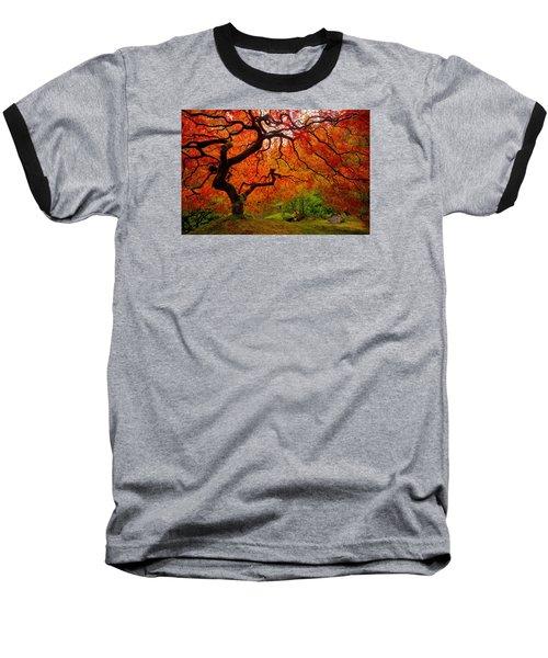 Tree Fire Baseball T-Shirt by Darren  White
