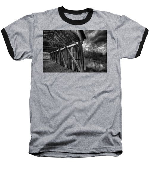 Trinity Road Covered Bridge Baseball T-Shirt