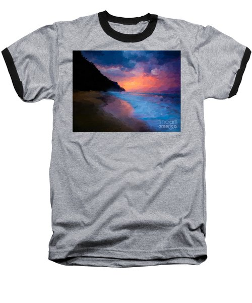 Baseball T-Shirt featuring the digital art Tropical Paradise by Anthony Fishburne