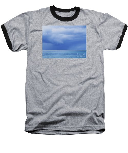 Tropical Storm Baseball T-Shirt by Roselynne Broussard