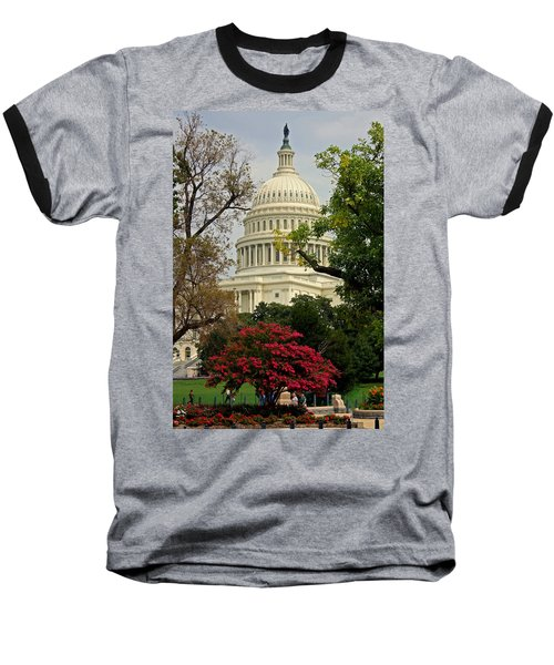 United States Capitol Baseball T-Shirt by Suzanne Stout