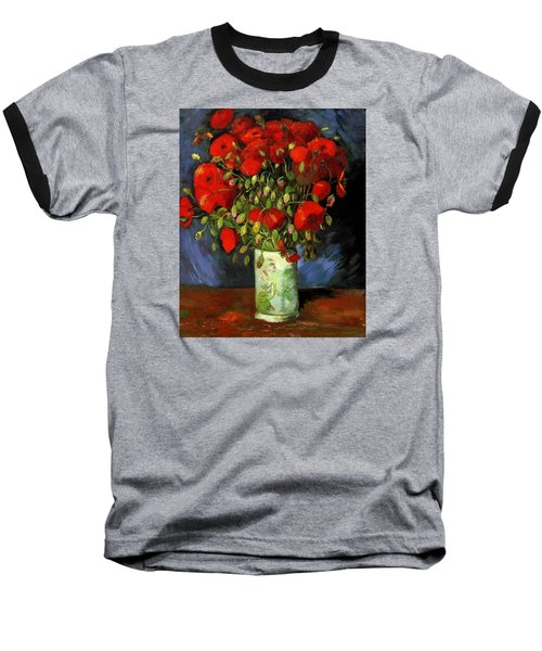 Vase With Red Poppies Baseball T-Shirt