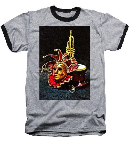 Venitian Joker 2 Baseball T-Shirt by Elf Evans
