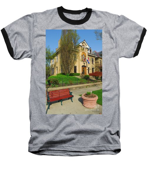 D47l-14 Victorian Village Photo Baseball T-Shirt