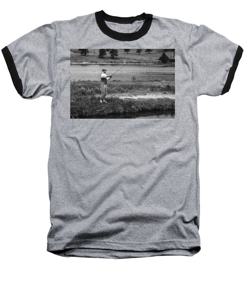 Baseball T-Shirt featuring the photograph Vintage Fly Fishing by Ron White