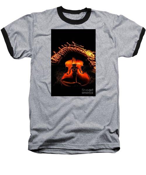 Violin Light Painting Baseball T-Shirt