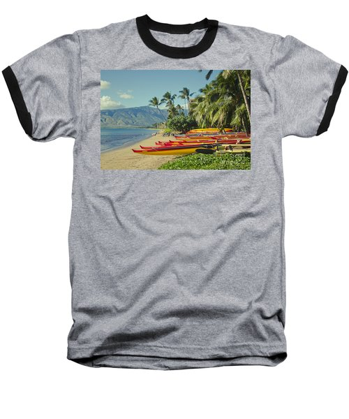 Kenolio Beach Sugar Beach Kihei Maui Hawaii  Baseball T-Shirt