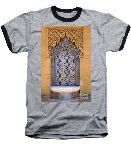 Baseball T-Shirt featuring the photograph Water Fountain Mausoleum Of Mohammed V Opposite Hassan Tower Rabat Morocco  by Ralph A  Ledergerber-Photography