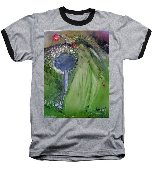 Water Girl Baseball T-Shirt by Laurie L