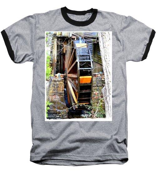 Baseball T-Shirt featuring the photograph Water Wheel by Tara Potts