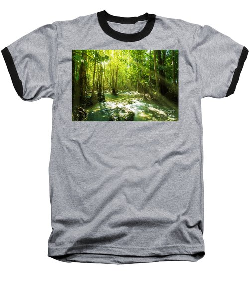 Waterfall In Rainforest Baseball T-Shirt