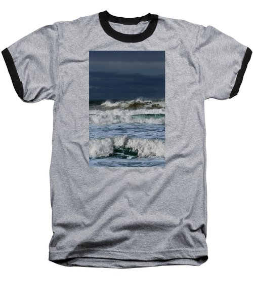 Wave After Wave Baseball T-Shirt by Edgar Laureano