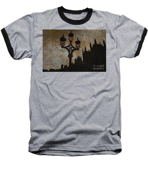 Baseball T-Shirt featuring the digital art Westminster Silhouette by Matt Malloy