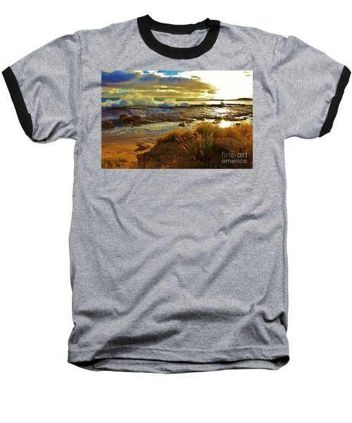 Westside Sunset Baseball T-Shirt by Craig Wood