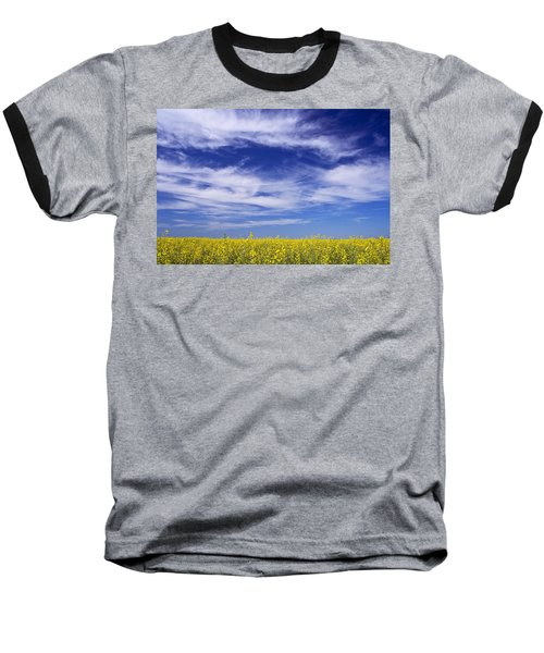 Where Land Meets Sky Baseball T-Shirt by Keith Armstrong