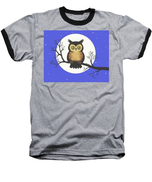 Whooo You Lookin' At Baseball T-Shirt by Sophia Schmierer
