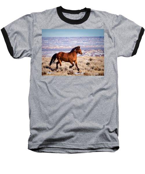 Eagle - Wild Horse Stallion Baseball T-Shirt by Nadja Rider