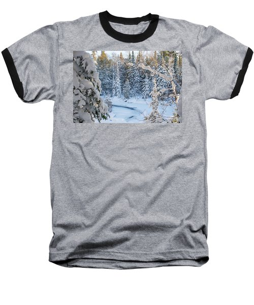 Winter At Grand Marais Creek Baseball T-Shirt