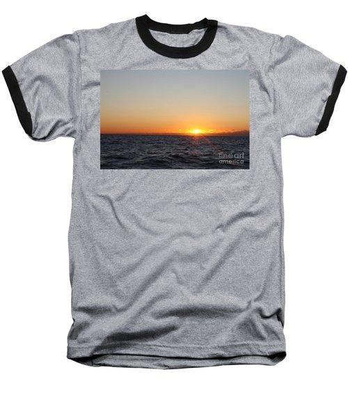 Winter Sunrise Over The Ocean Baseball T-Shirt