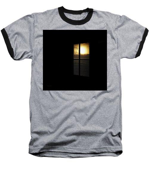 Winter Sunset Baseball T-Shirt by Cynthia Lassiter