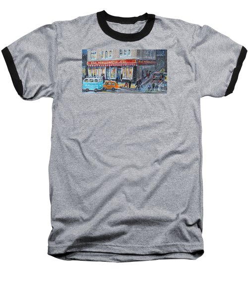 Woolworth's Holiday Shopping Baseball T-Shirt by Rita Brown