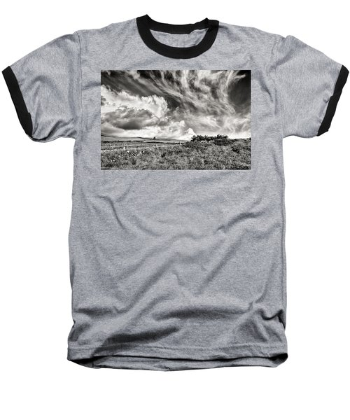 Written In The Wind Baseball T-Shirt by William Beuther