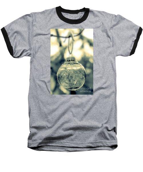 Xmas Ball Baseball T-Shirt by France Laliberte