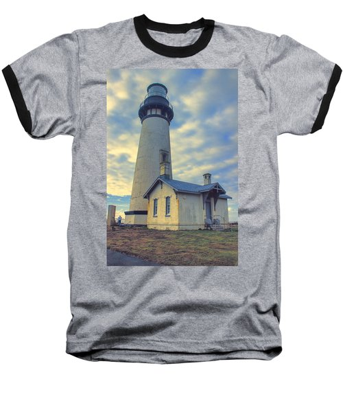 Yaquina Head Lighthouse Baseball T-Shirt by Cathy Anderson