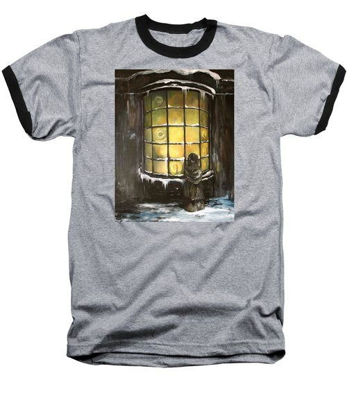 Baseball T-Shirt featuring the painting Ye Old Shoppe  by Jean Walker