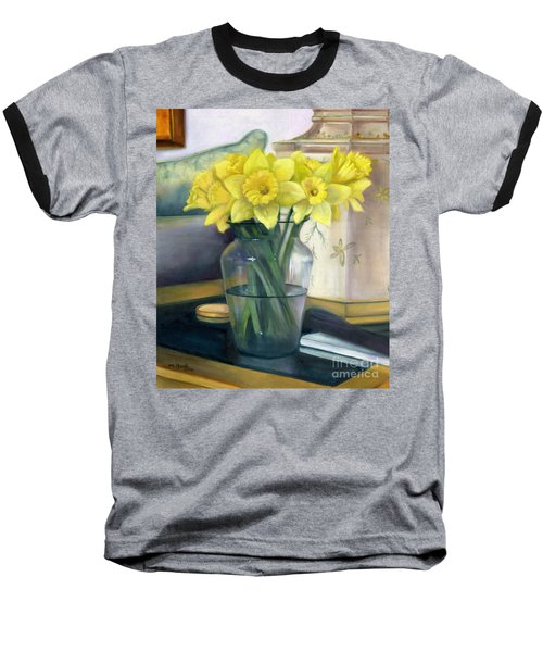 Yellow Daffodils Baseball T-Shirt