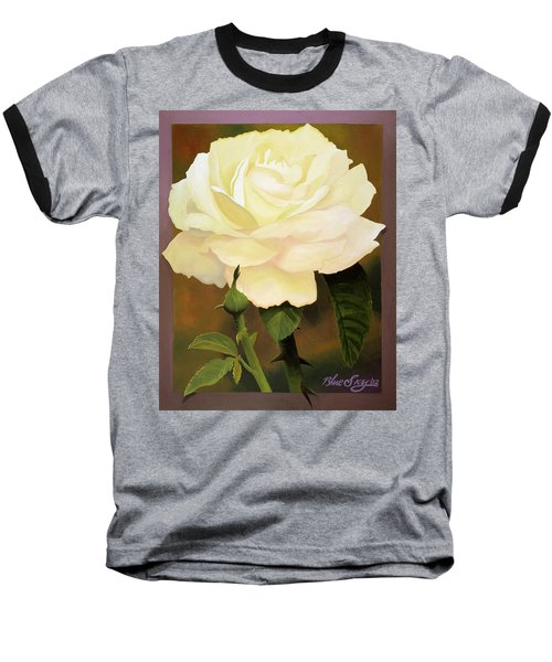 Yellow Rose Baseball T-Shirt by Blue Sky