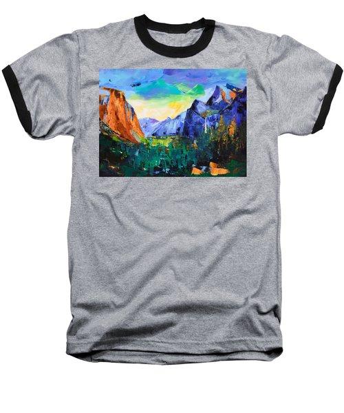 Yosemite Valley - Tunnel View Baseball T-Shirt