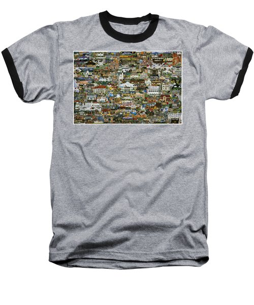 Baseball T-Shirt featuring the painting 100 Painting Collage by Jennifer Lake