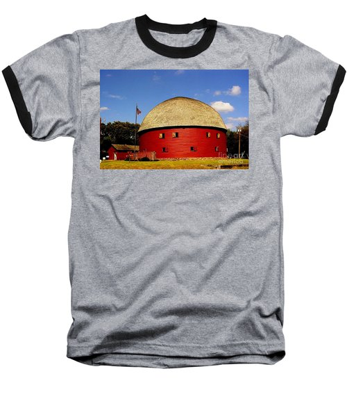 Baseball T-Shirt featuring the photograph 100 Year Old Round Red Barn  by Janette Boyd