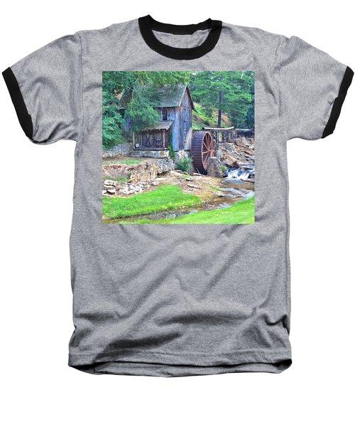 Sixes Mill On Dukes Creek - Square Baseball T-Shirt
