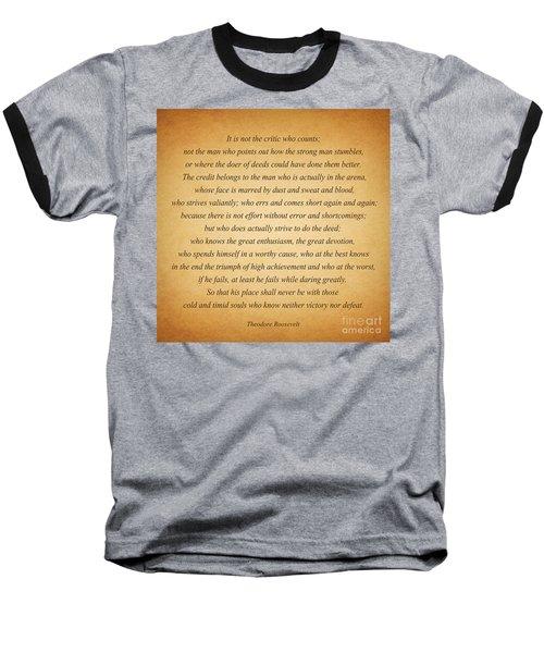 104- Theodore Roosevelt Baseball T-Shirt by Joseph Keane