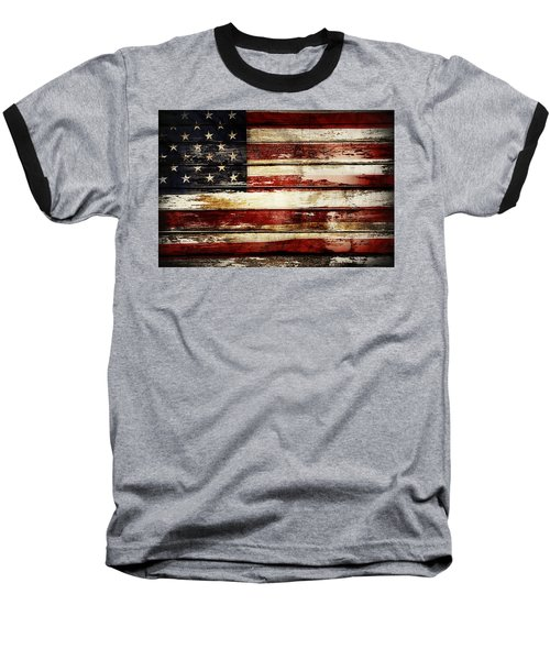 American Flag 33 Baseball T-Shirt