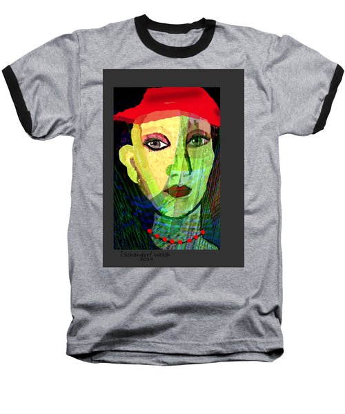 1084 - La  Signora ... Baseball T-Shirt by Irmgard Schoendorf Welch