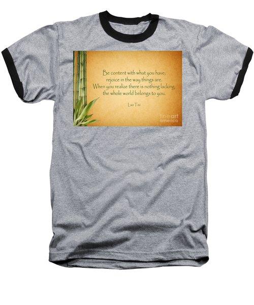 114- Lao Tzu Baseball T-Shirt