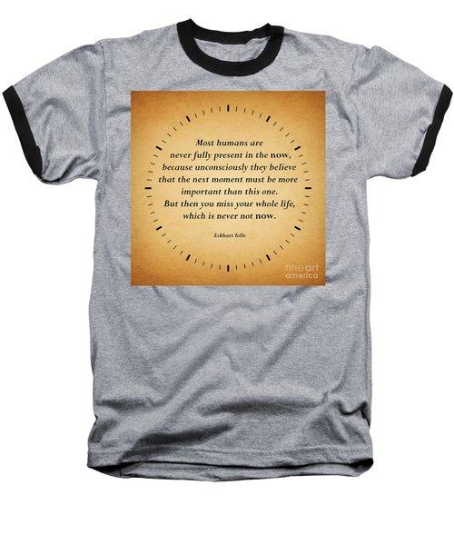 116- Eckhart Tolle Baseball T-Shirt by Joseph Keane