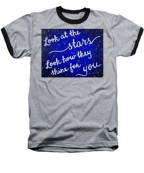 11x14 Look At The Stars Baseball T-Shirt