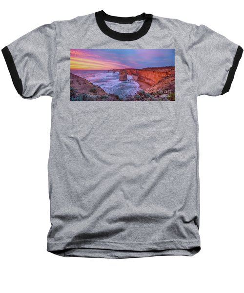 12 Apostles At Sunset Pano Baseball T-Shirt